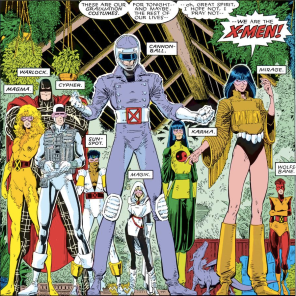 These graduation costumes look like things you would make someone wear as part of some kind of oblique punishment. (X-Men Annual #10)