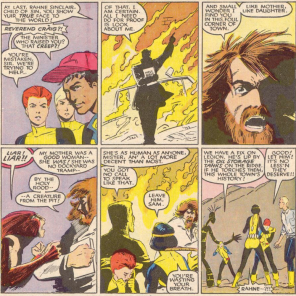 If Reverend Craig were an ice cream flavor, he'd be Presbyterianism and dick. (New Mutants #44)