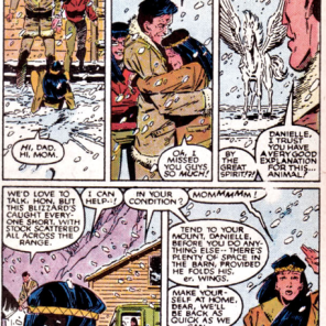 I guess when you've spent ten years trapped in a demon bear, it's easier to take things like flying horses in stride. (New Mutants #41)