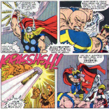 There's a lot of straight-up killing on the hero side of this event. (The Mighty Thor #374)
