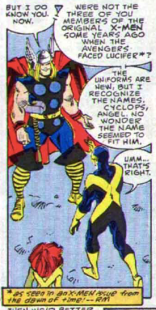 (X-Men #9, specifically.) (The Mighty Thor #374)