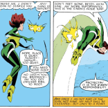 Psylocke's psychic projection is adorable and also super creepy. (Uncanny X-Men #213)