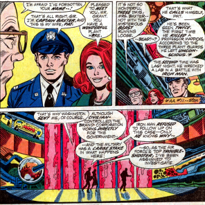 Two mysterious and seemingly boring people arrive at the super-science ultra-mega-labs of the Brand Corporation. (Amazing Adventure #13)
