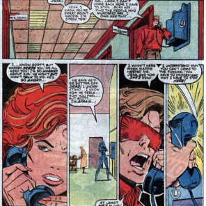 """Also, I think I might have a kid? I'm pretty sure there was a plot point about that last issue."" (X-Factor #15)"