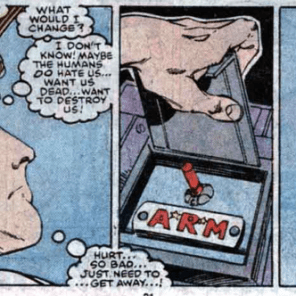 I know this is supposed to be very poignant, but I can't stop wondering why the hell Angel's little private plane has fucking MISSILES. (X-Factor #15)