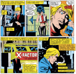 If the X-line were a sitcom, they'd totally have cut from here to Scott arguing with hallucinations over in X-Factor. (Uncanny X-Men #219)