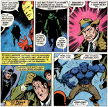 Edward G. Robinson shows up at Avenger auditions. (Avengers #137)