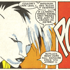 Kevin Nowlan draws a rad Hepzibah. (New Mutants #51)