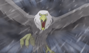 I mean, that's a super punchable eagle, right? Not, like, pterodactyl levels of punchable, but still pretty punchable.