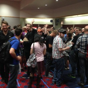 """Let's just meet at the panel room,"" we told the guests. ""There shouldn't be a line or anything."""