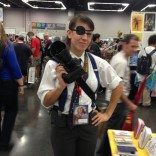 Our friend Sarah--a kickass pro photographer in her own right--was cosplaying as Rule-63 Phil Sheldon of Marvels!