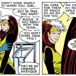 The staging here is spectacularly classic-romance-comic. (Uncanny X-Men #224)