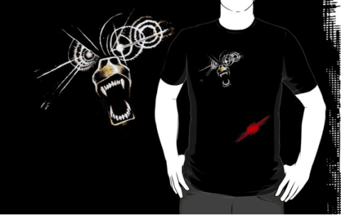 MY OTHER SHIRT IS A DEMON BEAR - Off the map and on to your torso! Design by David Wynne