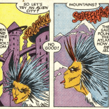 I love how weird and elegant Brigman's Bird Brain is. (New Mutants #56)