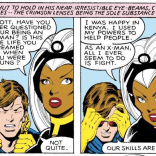 The art makes a really, really good counterpoint to the conversation in these panels. (X-Men Annual #3)