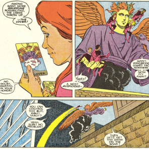 That's... an interesting deck you're using, Tarot. (New Mutants #56)