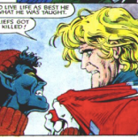 Sexiest Nightcrawler stars in the Sexiest Intervention. (Excalibur: The Sword Is Drawn)