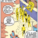 Featuring what we assume to be the disgruntled letterhacks of 1987. (Uncanny X-Men #225)