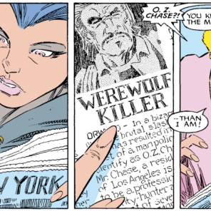 O.Z. Chase: Bounty Hunter, Not a Werewolf. (Uncanny X-Men #228)