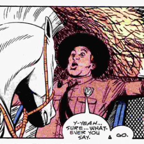 Horses: totally the worst. (New Mutants Annual #4)
