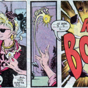 Please note that Boom Boom pauses to put on sunglasses before doing cool cool stuff. Boom Boom knows what's up. (X-Factor #32)