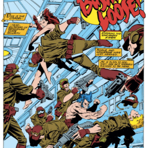 NAKED FIGHT! Take a drink, and follow it with a beer back. (Uncanny X-Men #236)