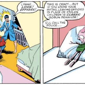 """Classic goblin behavior."" Did she learn about this in school? (X-Terminators #1)"