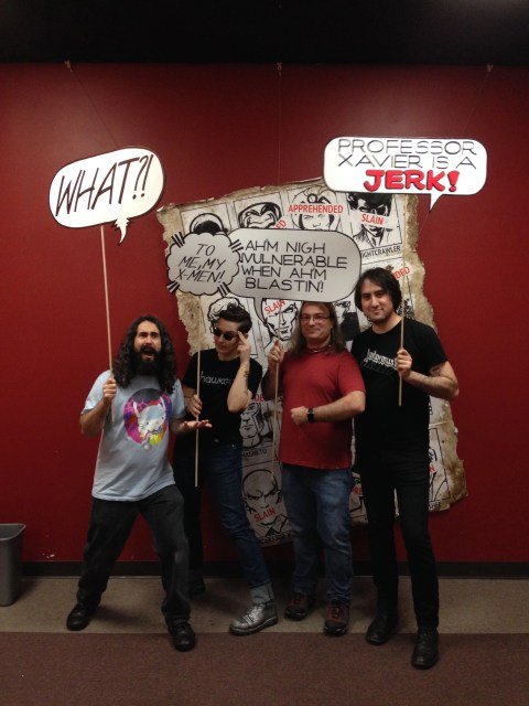 With Nick and Simon, our awesome hosts at Phoenix Comics!
