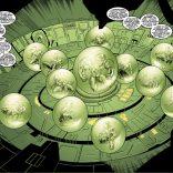 "Apocalypse's true, diabolical plan, as realized in ""The Twelve"": To capture a bunch of mutants and I guess put them in little terrariums? Apocalypse is a complicated guy. (Uncanny X-Men #377)"