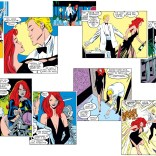 Here's every panel of Madelyne's black dress, in order. (Uncanny X-Men #240)