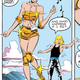 Rogue, that is... quite an outfit. (Uncanny X-Men #240)