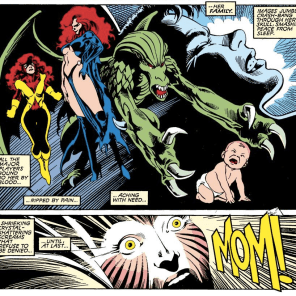 """Oh, yeah, there IS another Summers kid that we kinda forgot about in all the chaos!"" (Excalibur #6)"