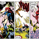 This makes somewhat less sense if you remember that these two have in fact met before. (Excalibur #6)