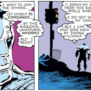 """Fuck this. I'm gonna go hang out in New Mutants."" (Uncanny X-Men #241)"