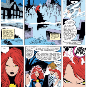 """Also, I liked that scene way more when Paul Smith drew it."" (Uncanny X-Men #240)"