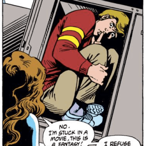 The fact that it's Doug makes this scene both sadder and creepier. (Excalibur #7)