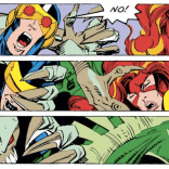 These panels were fine in context of the page, but then I cropped them, and now all I can think of is that one really unsettling video of a sloth petting a cat. (X-Factor #37)