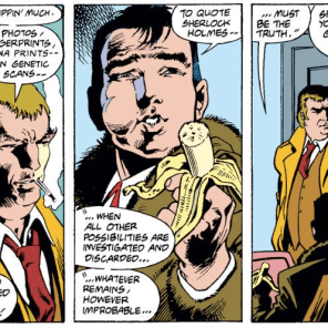 Alastaire Stuart and his banana. (Excalibur #9)