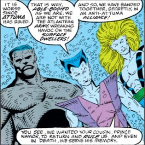 Please note Undertow's tastefully covered nipples. He's a gentleman. (New Mutants Annual #5)