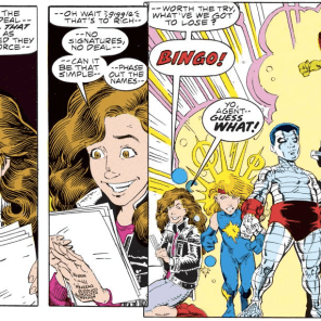 "I'm usually a stickler for ""their powers don't usually work that way"" complaints; but a) Kitty's powers have been blinky lately anyway; and b) rule of cool. (Excalibur: Mojo Mayhem)"