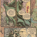 Hela gets equal billing with her expansive gestures and sweet headgear. (New Mutants #80)