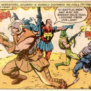Asgard: where you can have a dramatic death and then show up again WITHOUT resorting to retcons! (New Mutants #85)