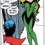 Swell new threads, Meggan! (Excalibur #14)