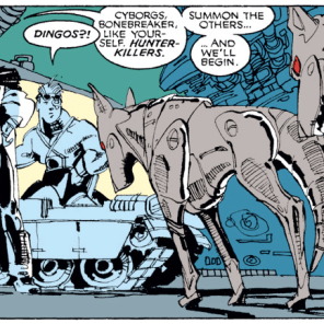 Ah, yes, the old-fashioned way. With robot dingos. (Uncanny X-Men #252)