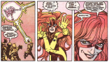 Of Jean's three personalities, Maddy is the only one familiar with how hairbrushes work. (X-Factor #46)
