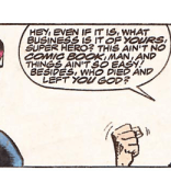 After looking like evil Zonker Harris, Greg's secondary superpower is irony. (X-Factor #47)