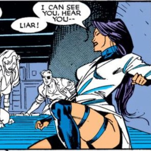 Telepathy + hallucinations = actually kind of awesome. (Uncanny X-Men #258)