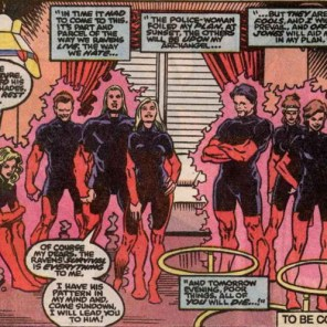 """We just got back from our aerobics class and didn't have time to change. So, what's up?"" (X-Factor #56)"