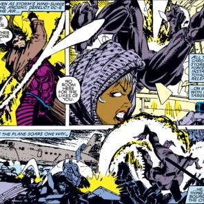 Gambit's too good for panel borders. (Uncanny X-Men #267)