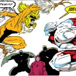 Preeeeetty sure this is the beginning of a complicated mating dance. Or just the start of date night. (New Mutants #91)